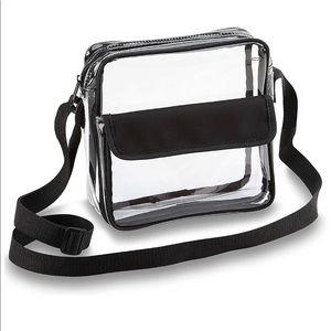 Clear Crossbody Messenger Shoulder Bag